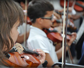 Young musicians of Sistema